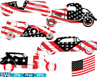 340x270 Vintage Sport Cars Hot Rod Sport Cars 4th Of July Monogram Cutting