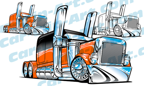 500x300 Big Rig Tow Truck Vector Clip Art Need It I Have It! Hot Rod