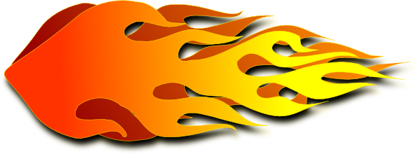 600x220 With Flames Clipart Hot
