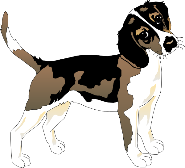 600x544 Clip Art Black And White Beagle Clipart