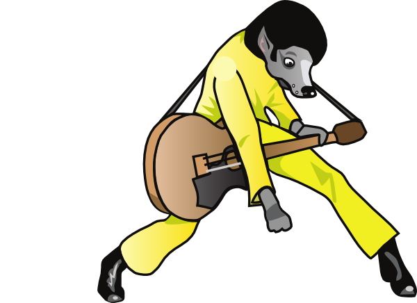 600x436 Elvis Hound Dog Clip Art