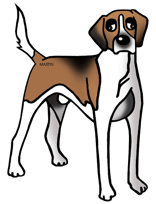 496x648 United States Clip Art By Phillip Martin, Virginia State Dog