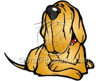 350x263 Cartoon Hound Dog Clipart Character Royalty Free Hound Dog