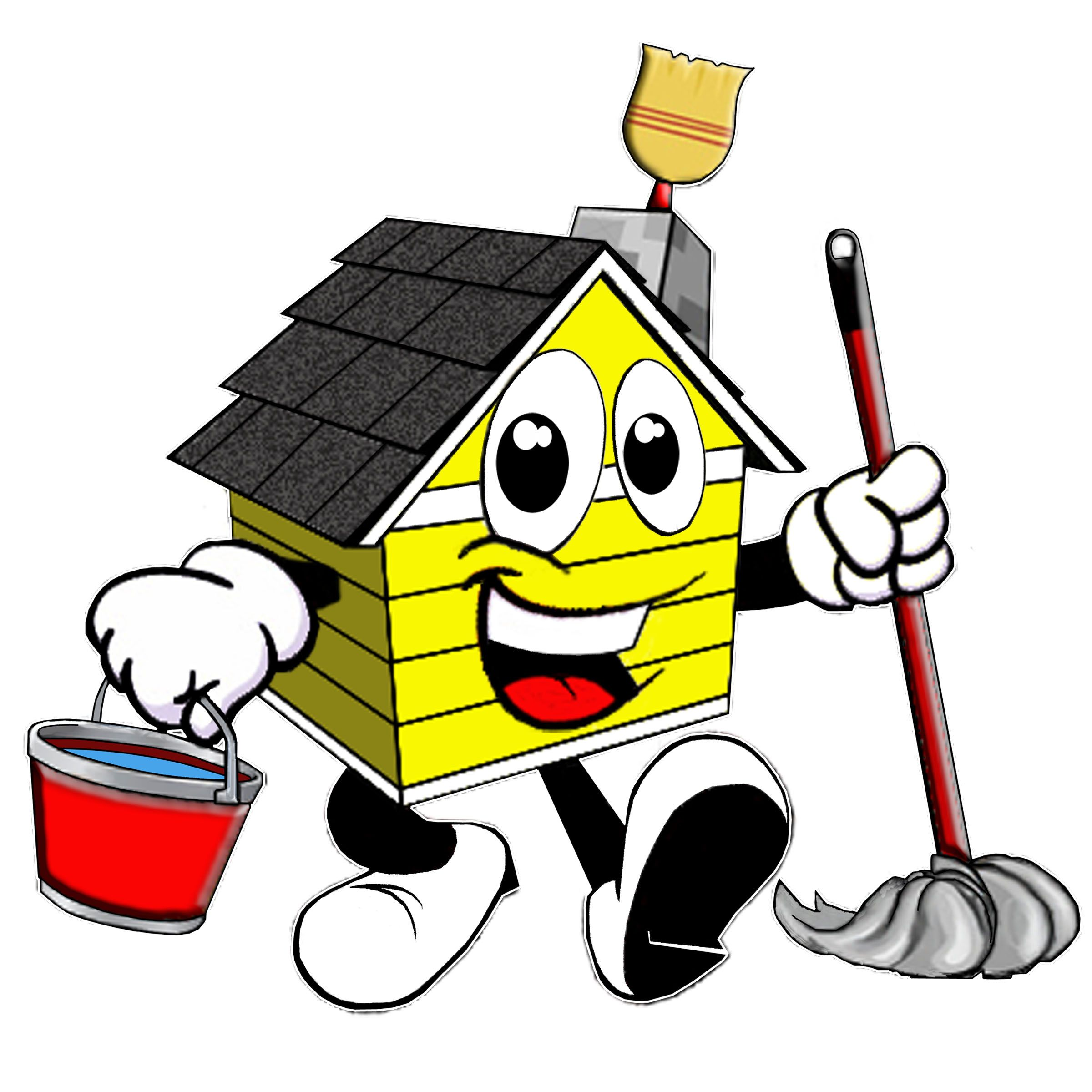 2400x2400 House Cleaning Professional Cartoon House Cleaning Logos
