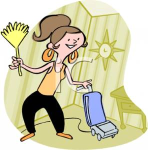 296x300 Woman Cleaning Her House