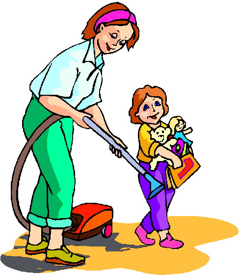 487x560 Clip Art Cleaning House