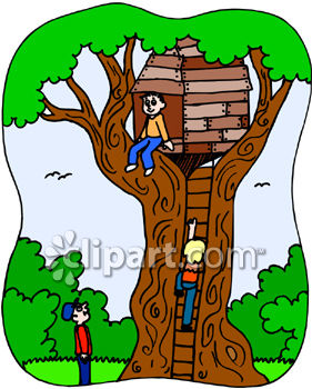 281x350 Smartness Design Tree House Clipart Kids Playing In A Royalty Free