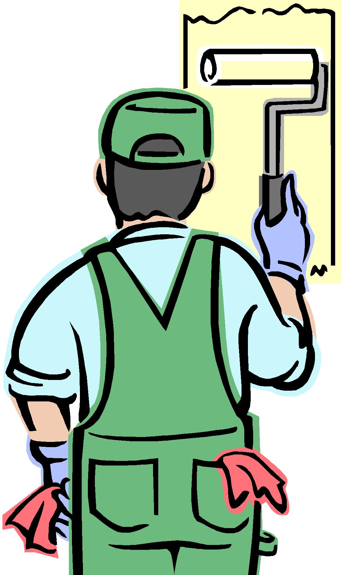 1114x1875 Painter House Painting Clip Art Painting Services