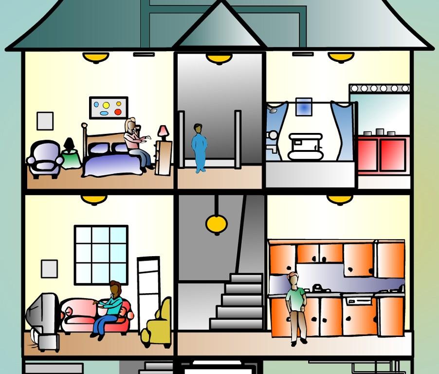 902x768 Room Clipart Inside House