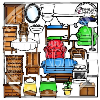 350x350 Rooms Of The House Clipart Teaching Resources Teachers Pay Teachers