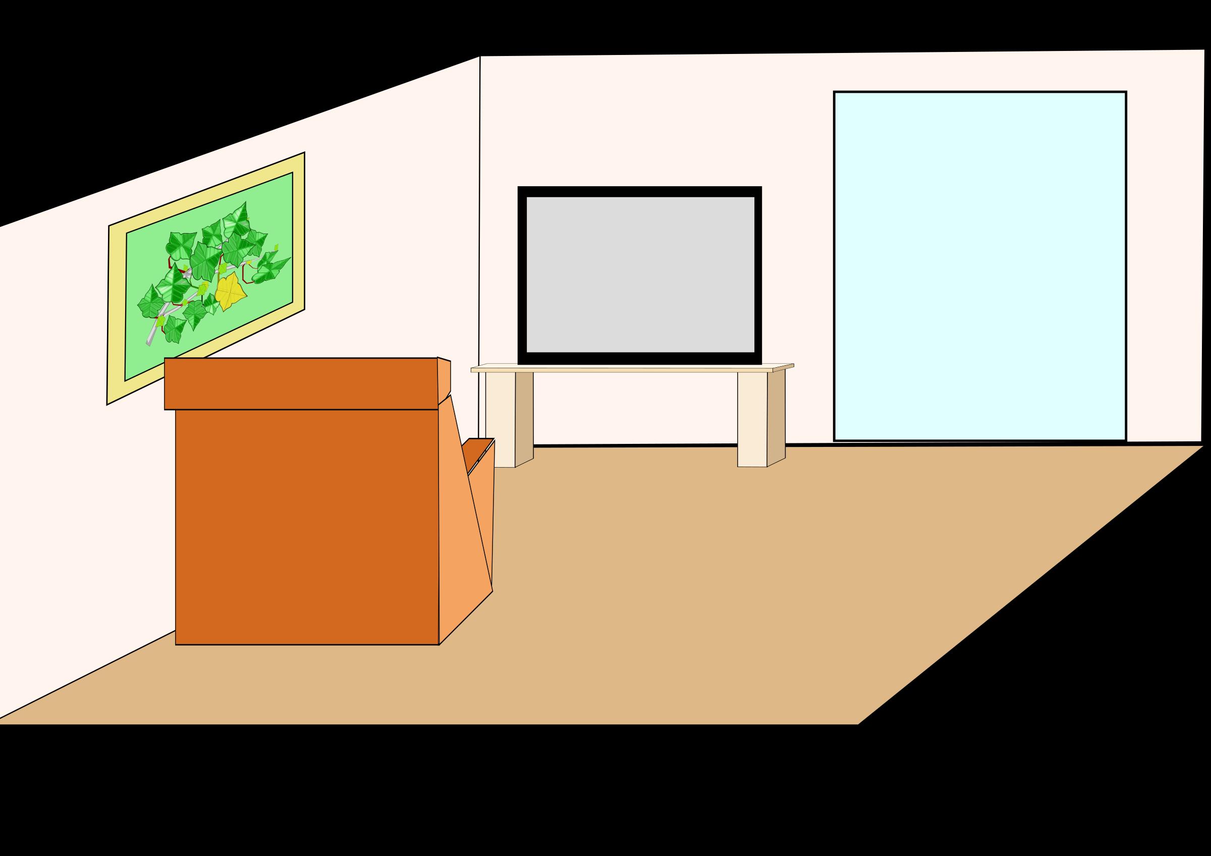 2400x1697 Table Living Room Sala Clip Art