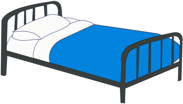 600x341 Bed Clipart Black And White Room Decorating Ideas