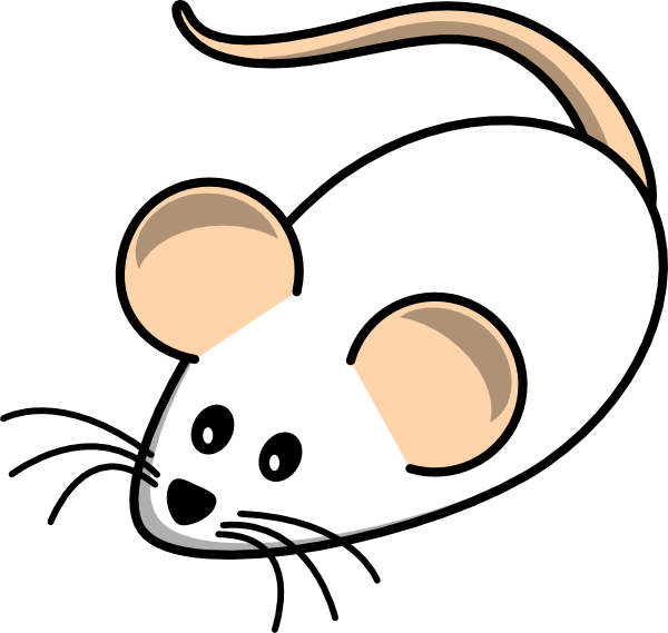 600x569 Field Mouse White Clip Art