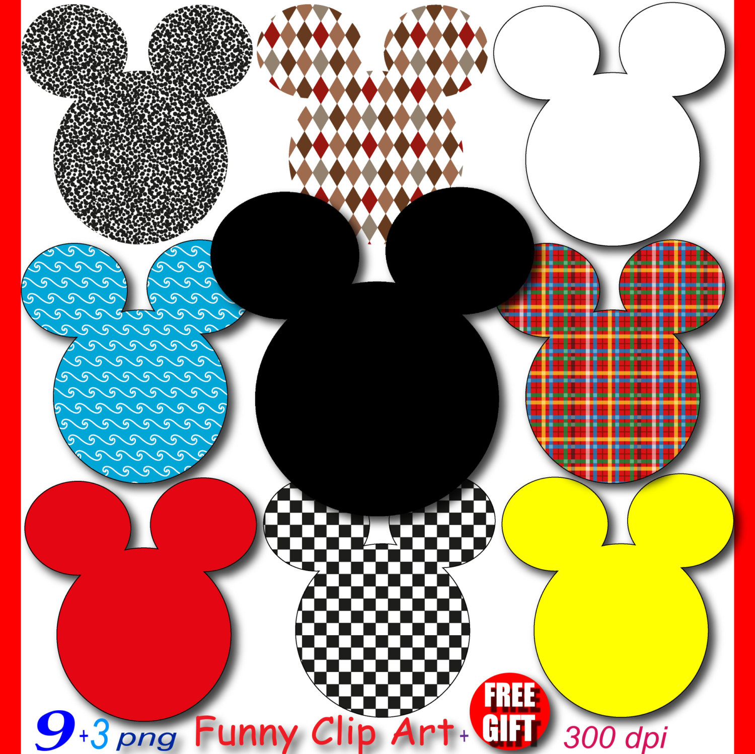 1500x1499 Mickey Mouse Party Digital Clipart Minnie Mouse Clubhouse