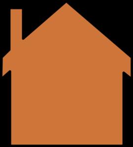 270x299 Orange House Clip Art