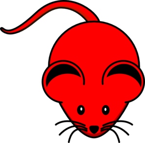 298x294 Red Mouse Clip Art