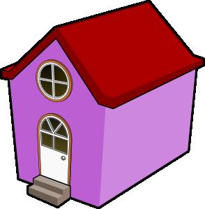 294x299 Bigredsmile A Little Purple House Clip Art