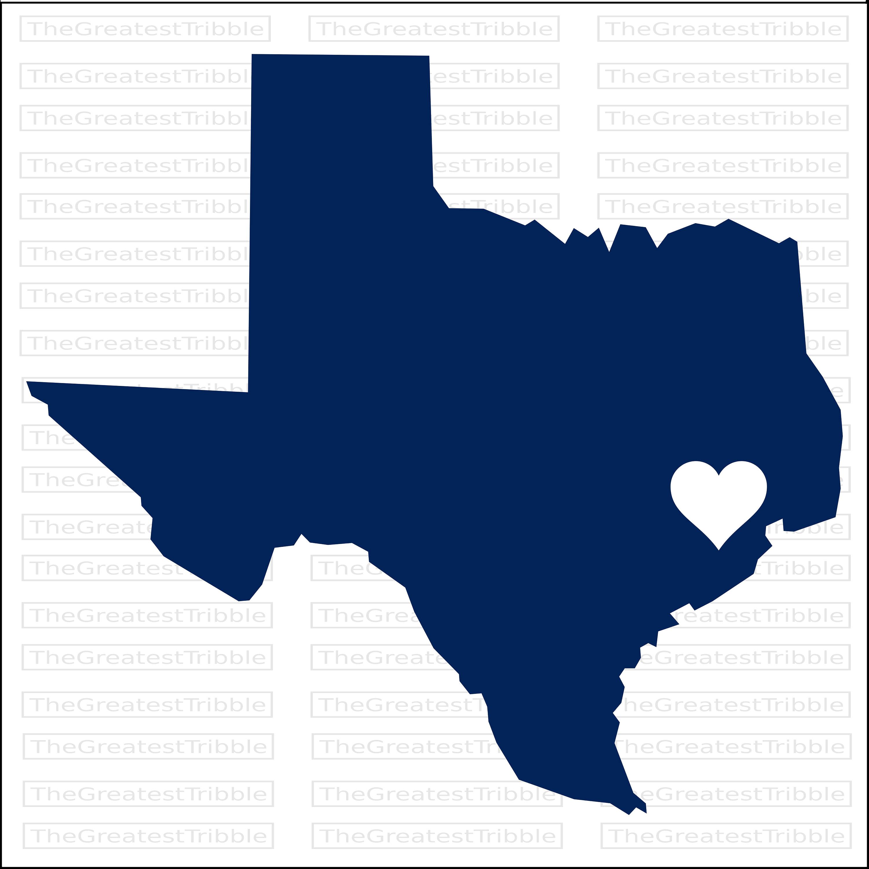 3000x2997 Texas Houston Heart Map Svg Png Jpg Eps Vector Graphic Clip Art