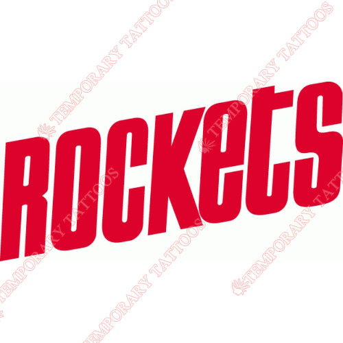 500x500 Houston Rockets Customize Temporary Tattoos Stickers No.1021