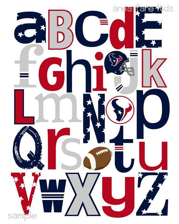 570x715 Houston Texans Football Abc Nursery Art Print Houston Texans