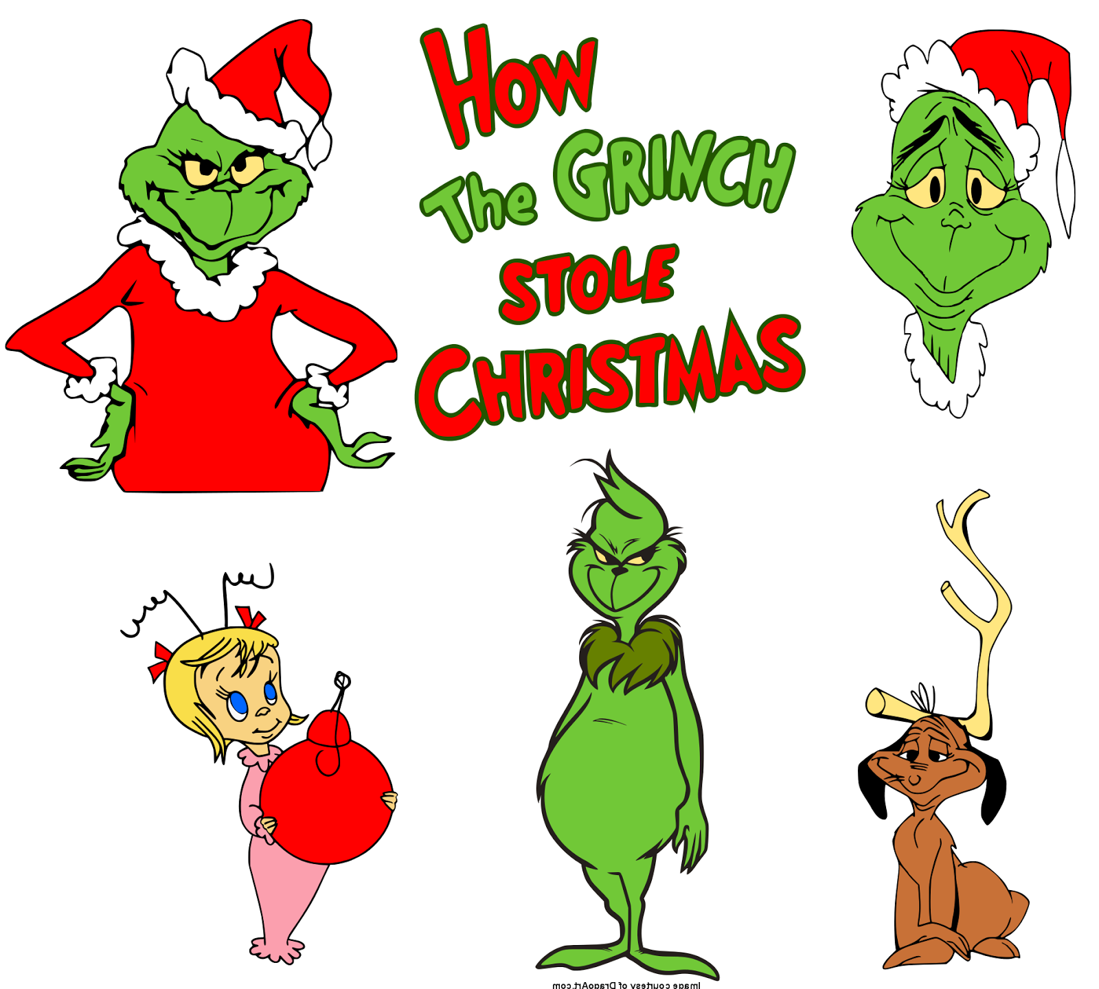 1600x1440 Krafty Nook Dr. Seuss' How The Grinch Stole Christmas Svg Files