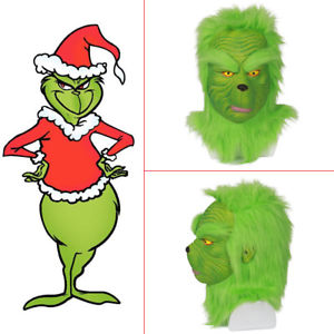 300x300 Xcoser Grinch Mask How The Grinch Stole Christmas Cosplay Latex