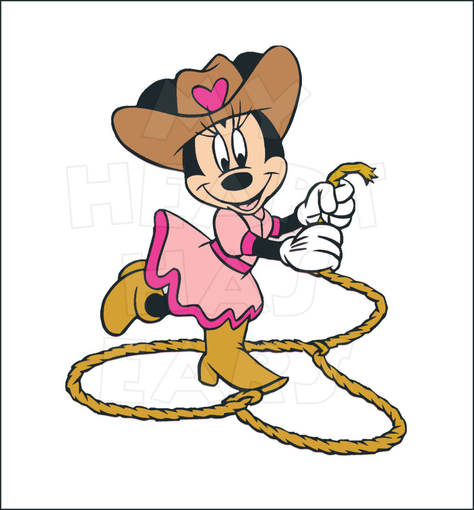 953x1024 Cowgirl Minnie Mouse Instant Download Digital Clip Art My Heart