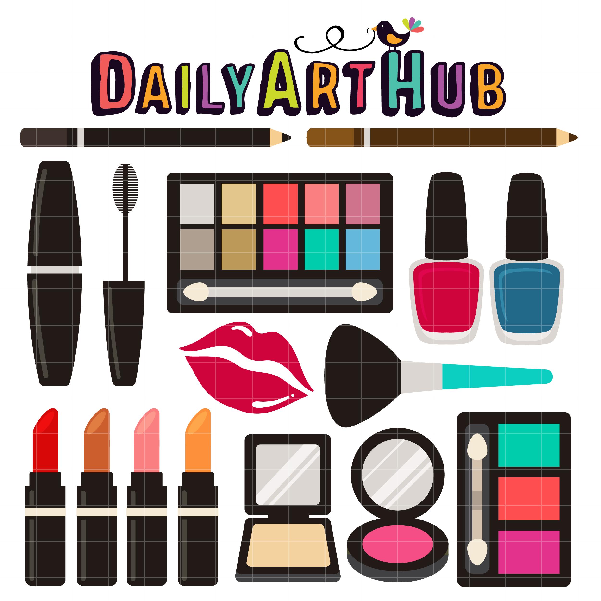 2500x2500 Make Up Kit Clip Art Set Daily Art Hub Free Clip Art Everyday