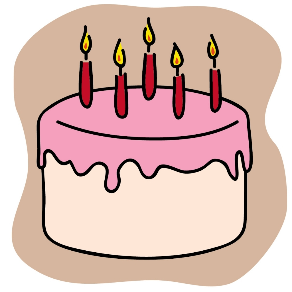 1024x1024 Animated Cake Clip Art Simple Clipart Birthday Cake Pencil And