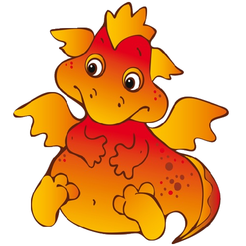 500x500 Cute Cartoon Dragons With Flames Cliprt Imagesre On