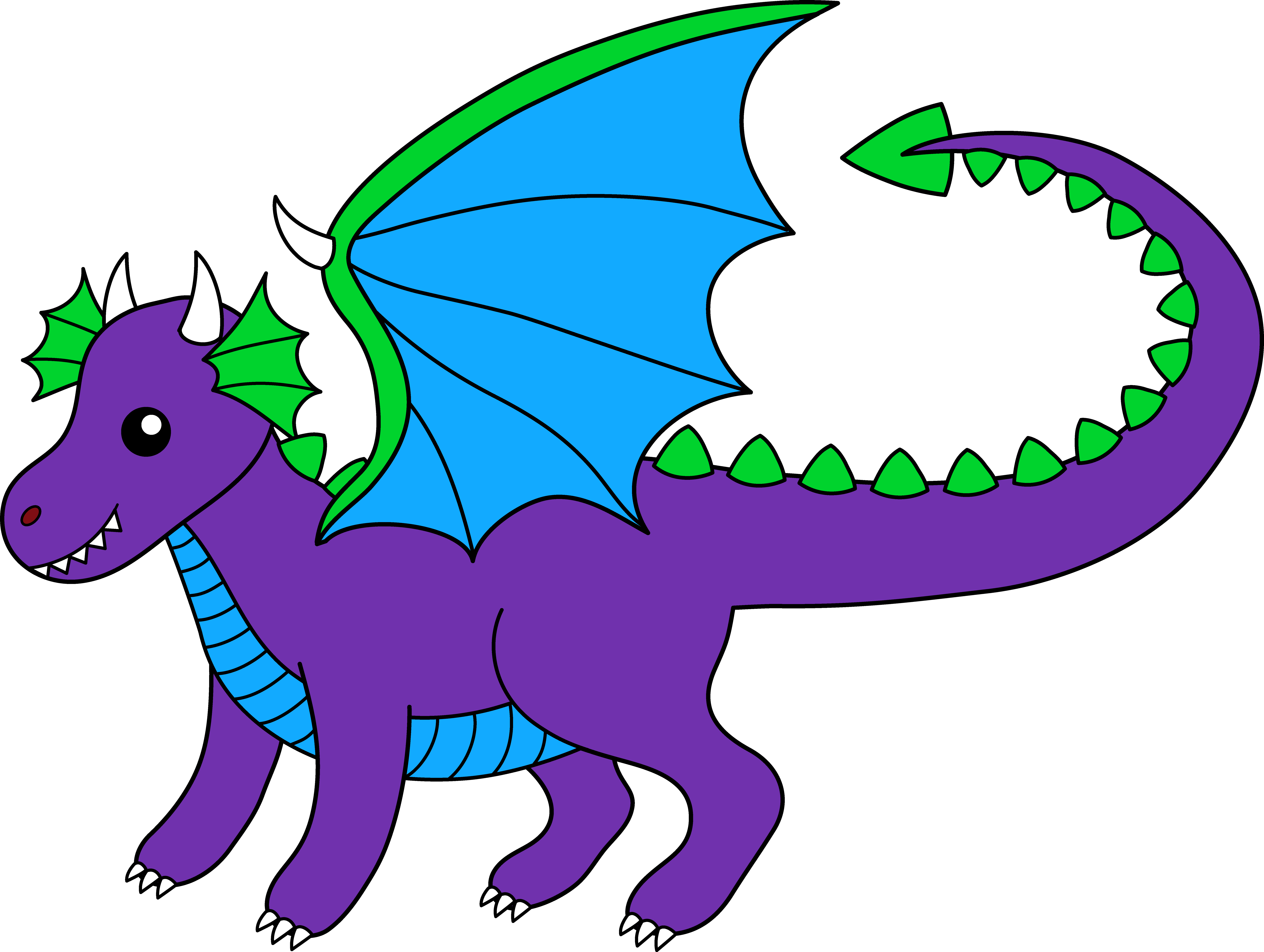 8056x6070 Winged Dragon Clipart
