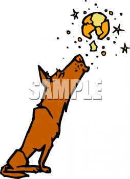 254x350 Royalty Free Clip Art Image Dog Howling