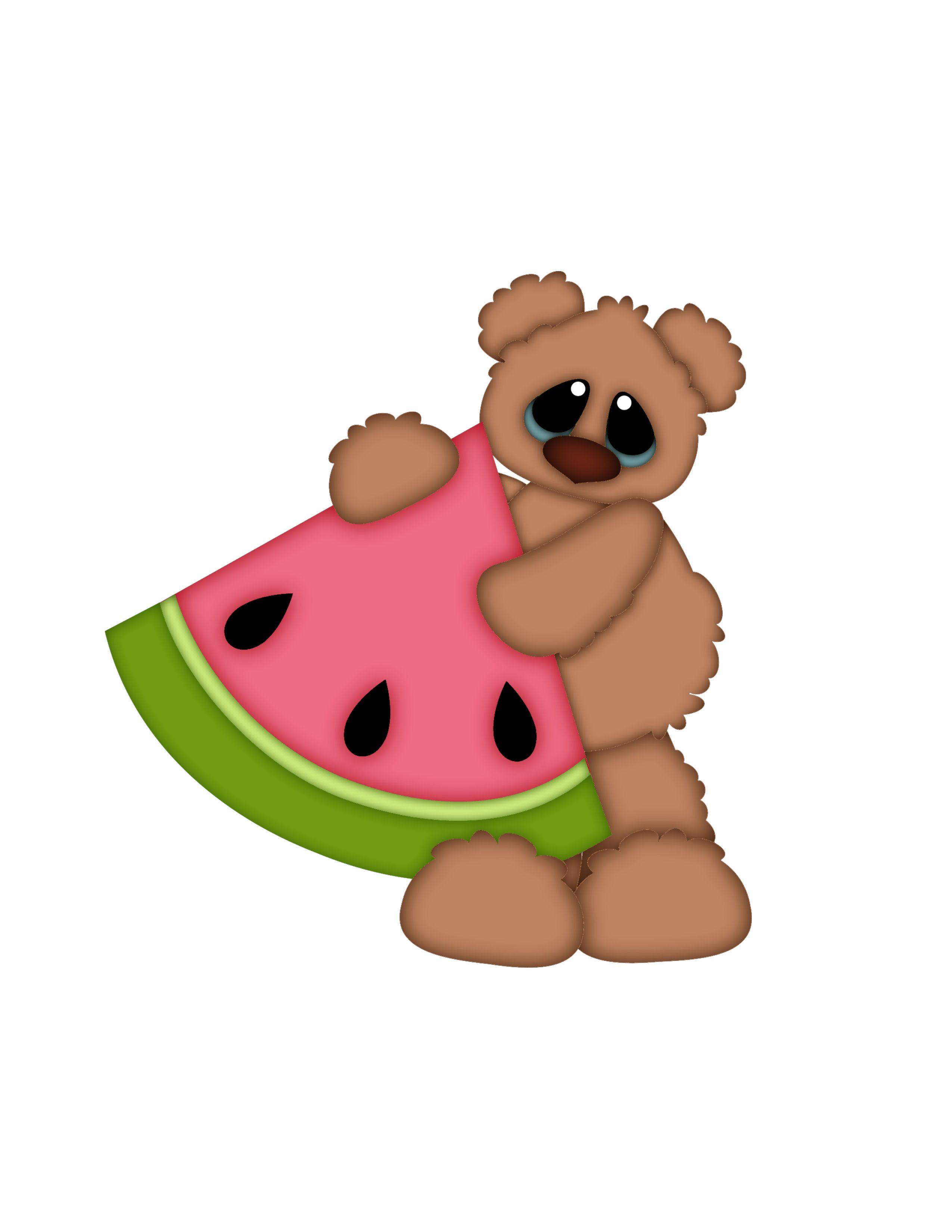 2550x3300 Watermelon Teddy Bear