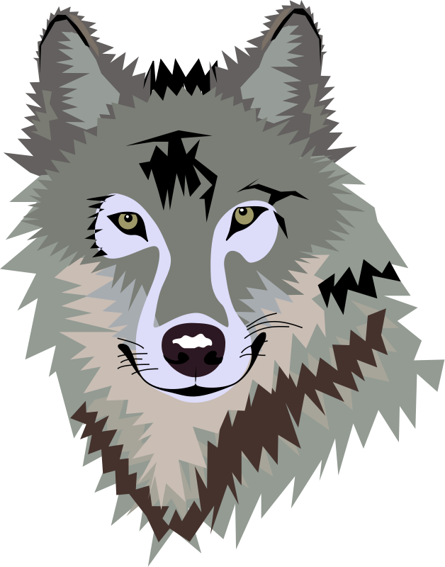 628x800 Wolf Face Clipart