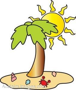 254x300 Hawaii Clipart Beach Holiday 3597747
