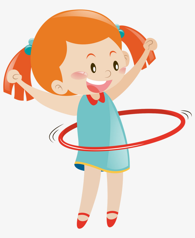 650x790 Cartoon Hand Painted Hula Hoop Girl, Cartoon Characters, Hand