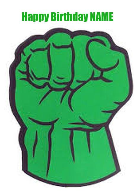 462x651 Hulk Fist Cake Topper