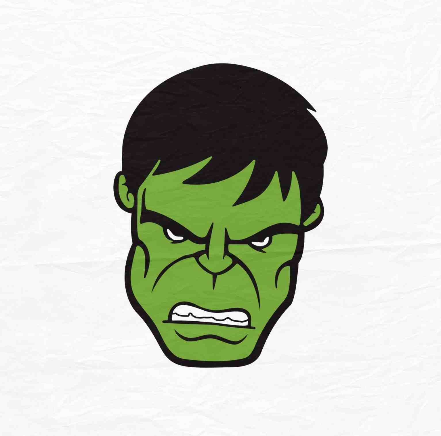 Hulk face clipart at free for personal for Incredible hulk face template