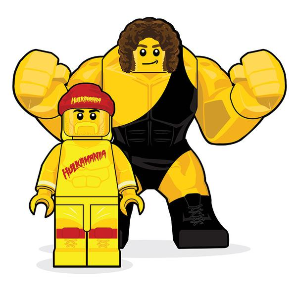 600x600 Lego Hulk Hogan And Andre The Giant By Dan Shearn