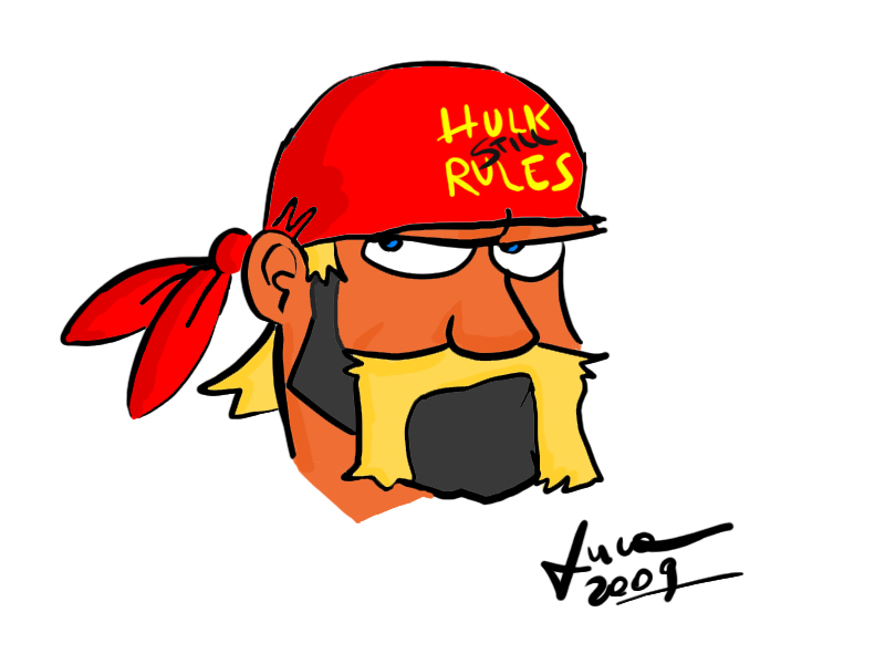 800x600 Cartoon Hulk Hogan By Lucapoison