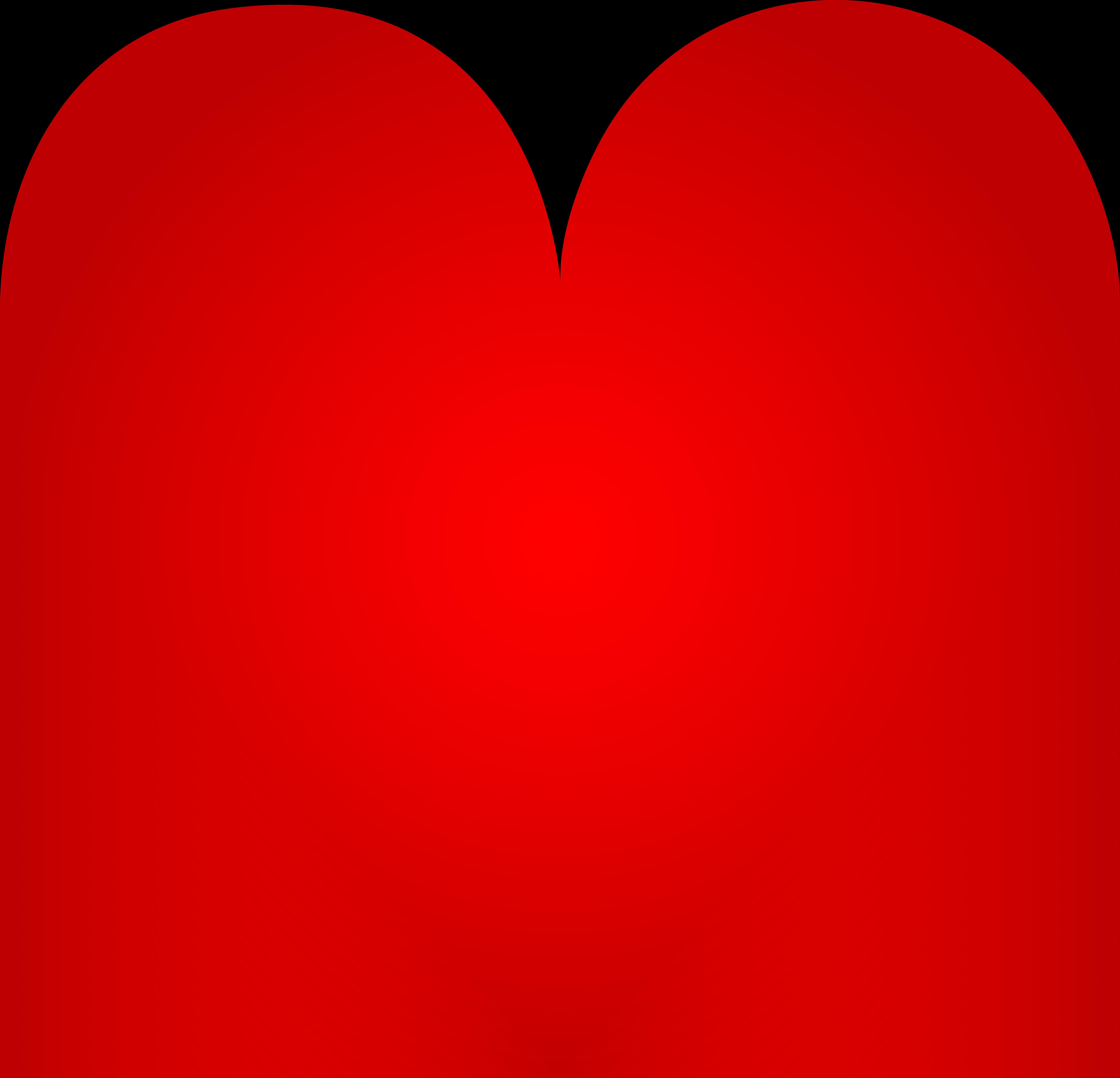 7989x7692 Big Red Heart Clip Art