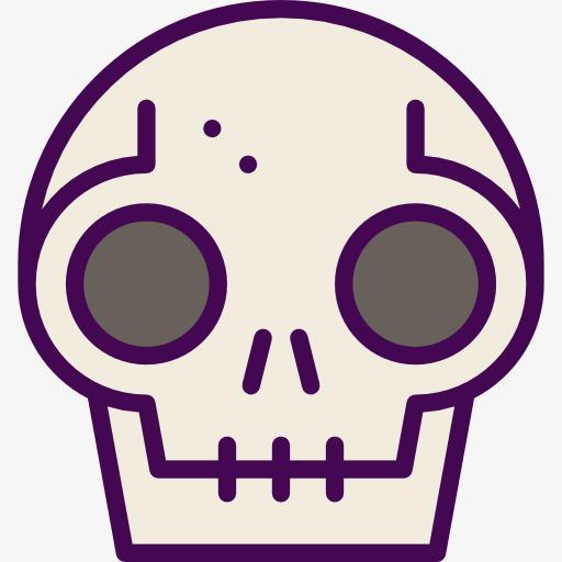 512x512 Human Bone Skeleton, Skull, Human Bone, Cartoon Png Image