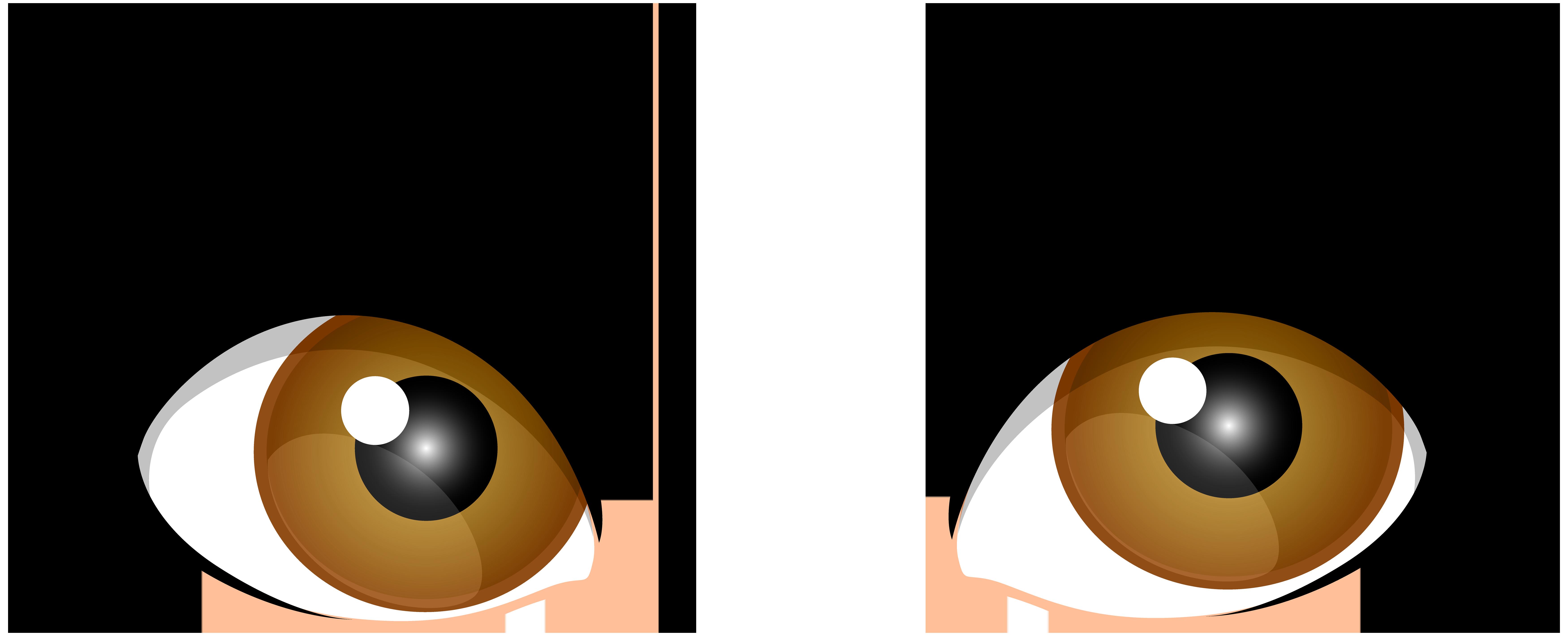 7000x2837 Human Eye Brown Clip Art