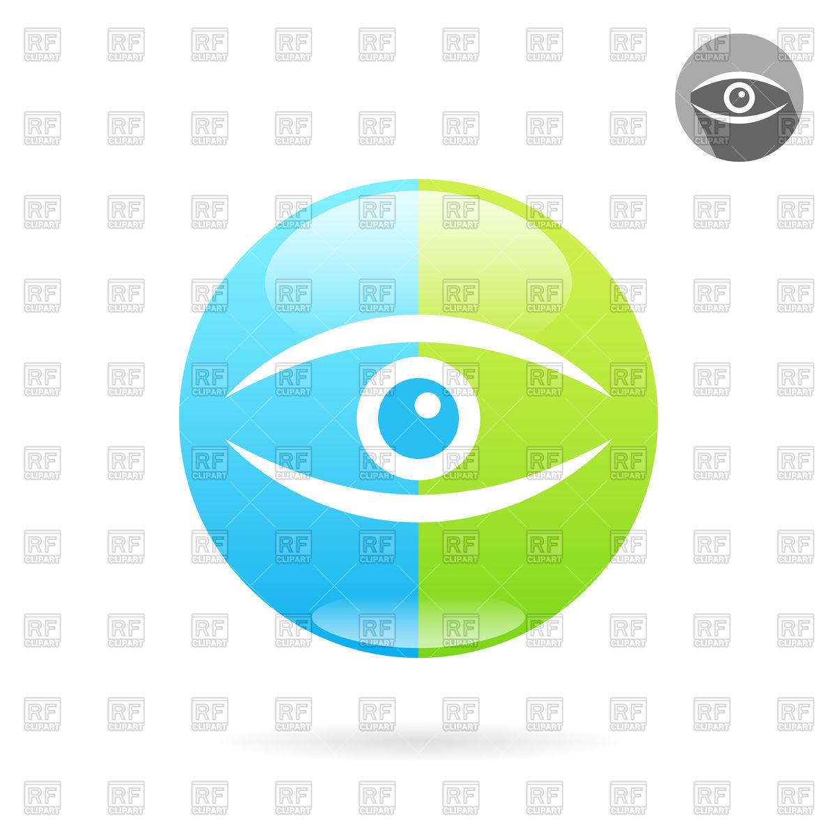 1200x1200 Human Eye Icon Royalty Free Vector Clip Art Image