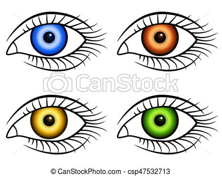 450x357 Human Eye Icons. Illustration Of The Human Eyes Icon Set Vector