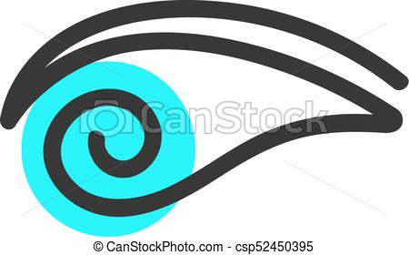 450x280 Simple Eye Blue Logo. Concept Of Human, Security, Find, Eps