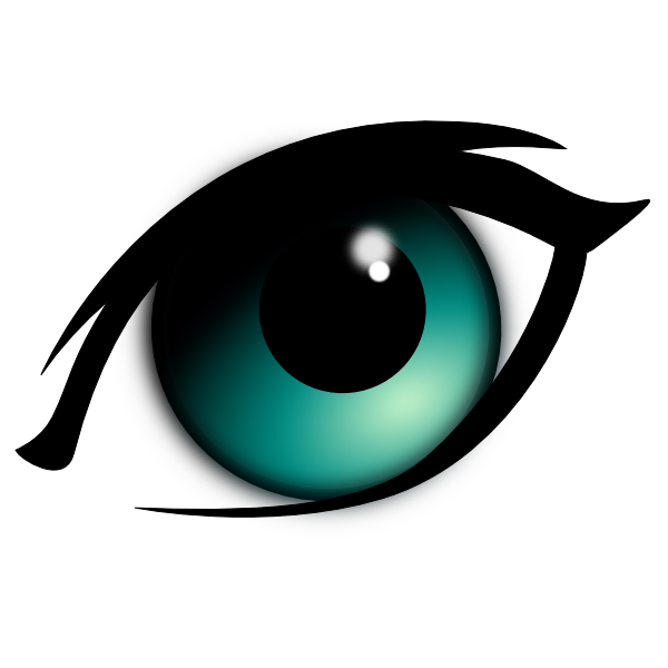 600x600 Animated Eyes Blue Cartoon Eye Clip Art Set Design