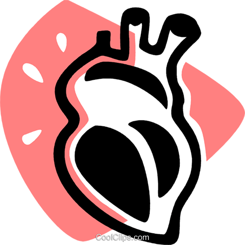 480x479 Human Heart Royalty Free Vector Clip Art Illustration Vc075918