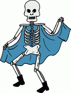 236x311 Halloween Casual Skeleton ~ Public Domain Clip Art Halloween