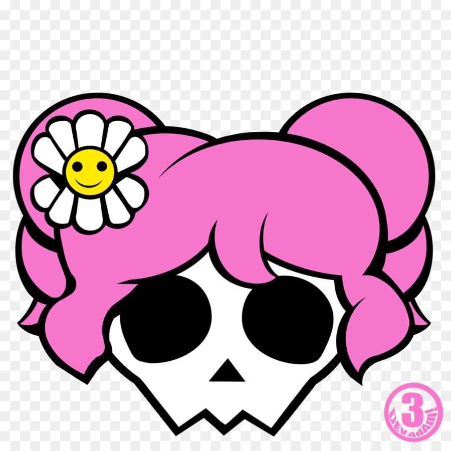 900x900 Cute Bear Skull With Bones Royalty Free Vector Clip Art Image